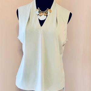 Tahini pale gray blouse